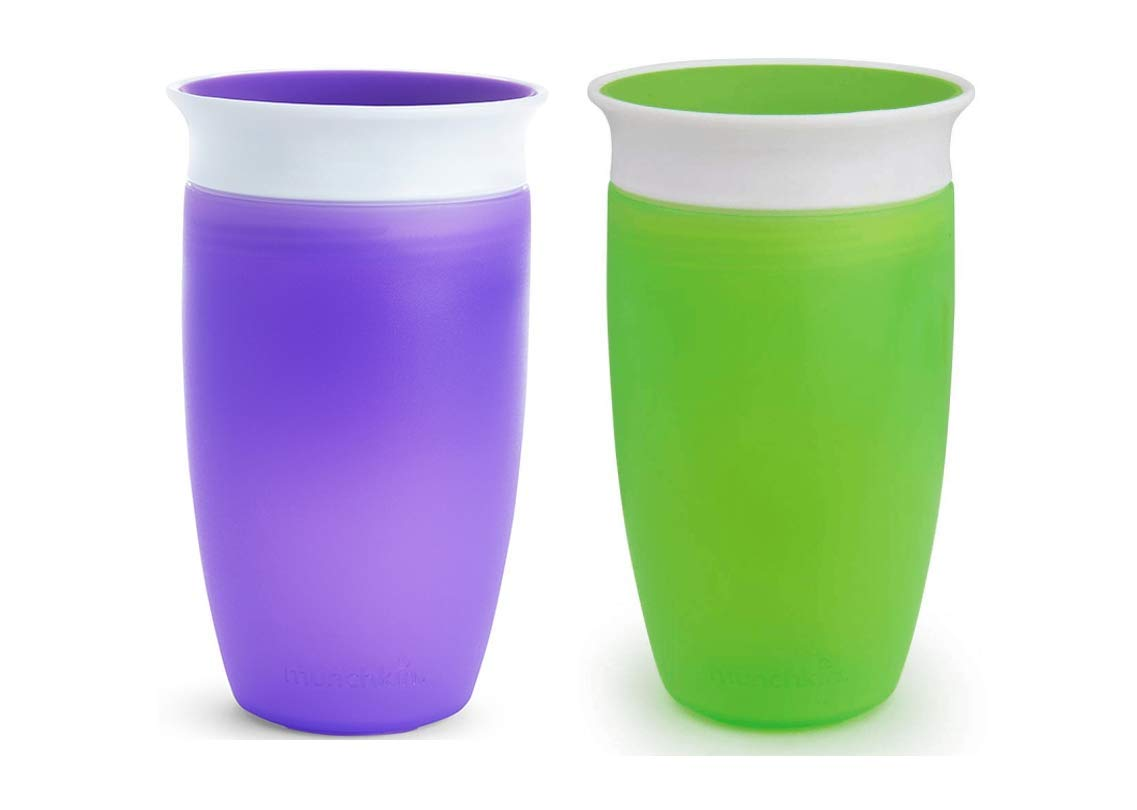 2 Count by Munchkin Munchkin Miracle 360 Sippy Cup Green 10 Ounce