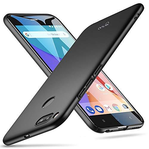 Lenuo - Funda Compatible con Xiaomi Mi A1 / Xiaomi Mi 5X Carcasa Trasera Rígida [Ultra-Fina] Resistente Caidas y Golpes [Anti Huellas] Protección Ligera [Slim Series] - Negro