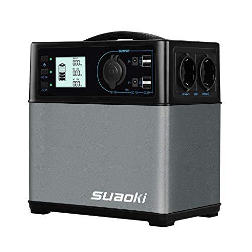 SUAOKI - 400Wh/120,000mAh Generador Portátil Solar, Cargador de Batería...