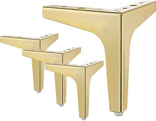 Metall-Möbelfüße, Metall-Diamant-Dreieck-Tischbeine, Schrankfüße, DIY-Ersatz für Schrank, Sofa, Couch, Regal, Set mit 4 Stück, gold-10 cm