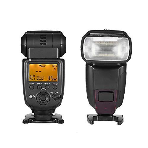 Flash De La Cámara, Batería Yn860li 1800Mah, Flash Maestro-Esclavo Inalámbrico LCD GN60,...