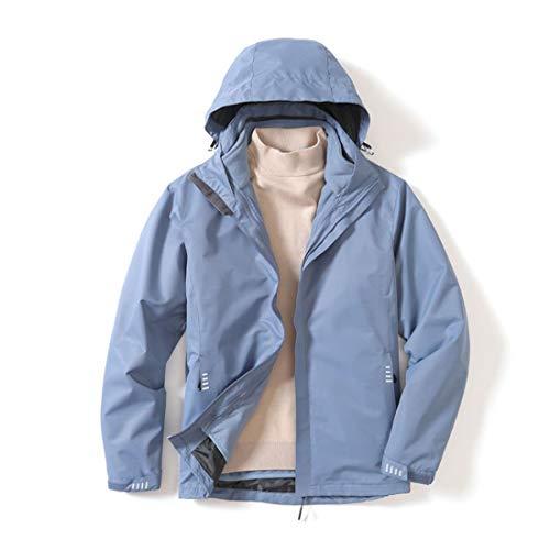 Durable Mens desmontable de dos piezas caliente, Parejas impermeable y transpirable Stormsuit (Color : Fog Blue, Size : XXL)