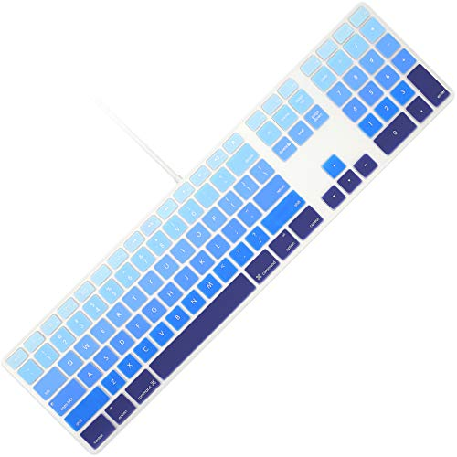 Allinside Ombre Blue Keyboard Cover for iMac Wired USB Keyboard A1243 MB110LL/B