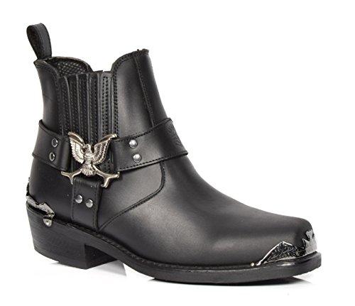 A1 FASHION GOODS AEB77L Black, Boots Chelsea Homme - Noir - Noir, 40 EU