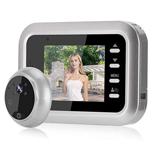 Deansh Visor de Mirilla con Pantalla LCD TFT de 2,4 Pulgadas, Visor de Puerta Digital, Cámara, Sistema de Seguridad para el Hogar, Compatible con Visión Nocturna por Infrarrojos