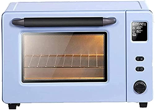 Horno eléctrico, Horno de tostadora Hornear de gran capacidad 40L Barbacoa integrada Mini horno automático de multifunción con ajuste de temperatura 30-230 ℃ y 60 mins Temporizador Air Freidora