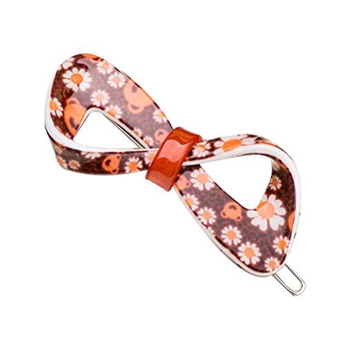 Lot de 2 Fleur Pin Hair Fashion Barrette Creative épingle,Orange