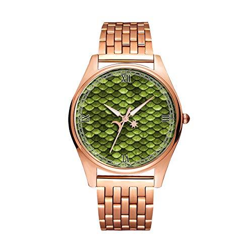 Minimalistische goldene Quarz-Armbanduhr, Elite, ultradünn, wasserdicht, Sportuhr, künstlerisches Muster, 260. Schuppen, Meerjungfrau, Fisch, Papier, Design