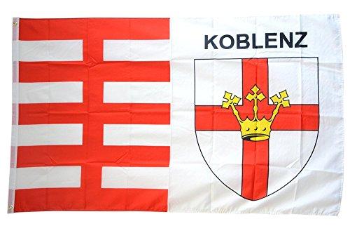 Flaggenfritze Fahne/Flagge Deutschland Stadt Koblenz + gratis Sticker