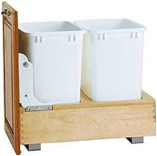 Rev-A-Shelf 4WC-18DM2 Double 35 Quart Waste Containers, Door Mount, White by Rev-A-Shelf