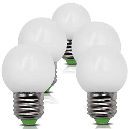 5er Pack 4W E27 LED Glühbirnen Ersetzt 40W 35W 30W Neutralweiß 4000K 220V 230V 380Lm Nicht-Dimmbar G45 Bädern Wandleuchte Wohnzimmer Klein Lampe [MEHRWEG]