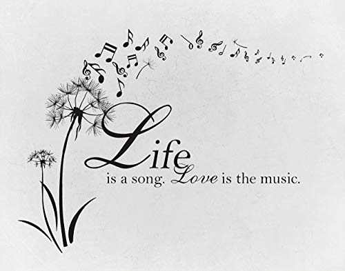 Life is a Song, Love is the Music - Sheet Music - Great Gift for Musicians, School, Office, Den, Music Room, Studio