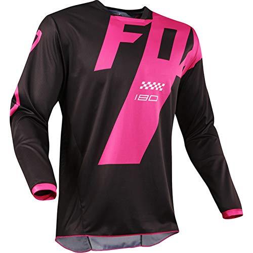 Mountain Bike Motocross Jersey Camiseta de Manga Larga - Traje de Descenso al Aire Libre A Prueba de Viento, Anti-UV (4,3XL)