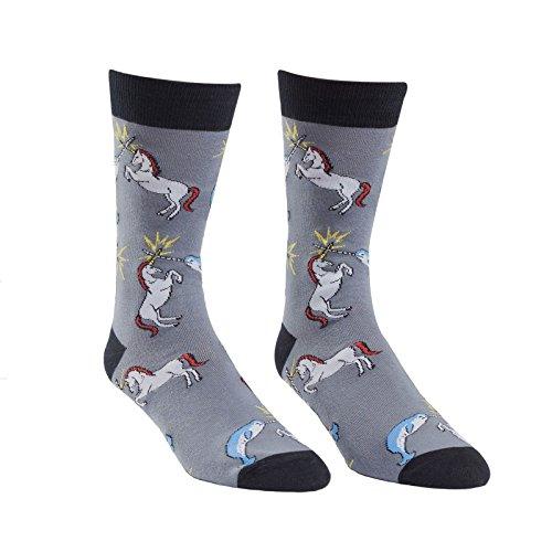 Sock it to me - Unicorn vs. Narwal - lustige Herren Socken mit Einhorn & Wal Gr.40-47 One Size, Größe:Gr. 42-47