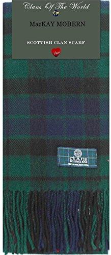 I Luv Ltd Mackay Modern Tartan Clan Scarf 100% Soft Lambswool