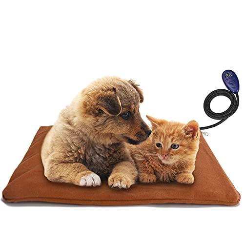 Noverlife Almohadilla de calefacción para mascotas, almohadilla de calefacción eléctrica para perros y gatos, alfombrilla de calefacción suave, de bajo voltaje, con calefacción ajustable, cojín interior para mascotas, cachorro, gato, perro, sofá cama