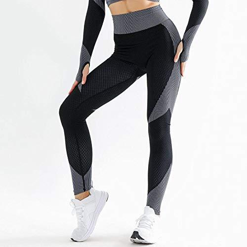 dihui Gym Yoga Slim Fit Pants Largos Pantalones,Pantalones Deportivos Ajustados y Transpirables para Mujer, Entrenamiento Deportivo, Entrenamiento de Gimnasia, Legging-Black_S