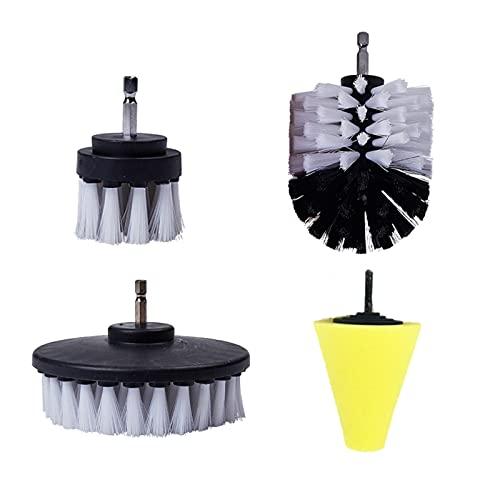 PETER LI Poder Scrubber Drill Brush Detalle Conjunto de cepillo Ajuste para Aire Ventiladores de Aire Limpieza de RIM Limpieza automática Cepillos de limpieza de cuero para alfombras Limpieza