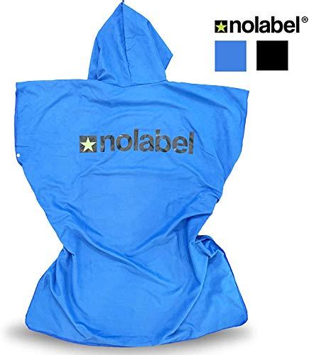 No Label microvezel omkleedhanddoek badponcho - kleedhulp met capuchon voor strand en outdoor sport