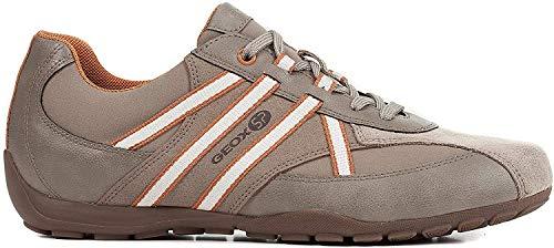 Geox Herren Atreus Boy 1 Sp Durable Sneaker Turnschuh, Sand/Orang, 46.5 EU