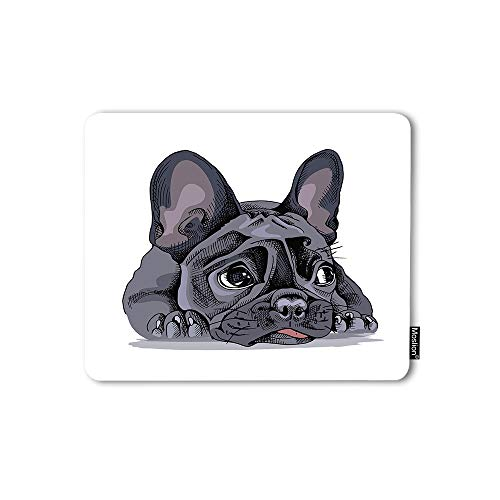 Moslion Mouse Pad French Bulldog Watercolor Puppy Little Cute Adorable Animal Lovely Pet Gaming Mouse Mat Non-Slip Rubber Base Thick Mousepad for Laptop Computer PC 9.5x7.9 Inch