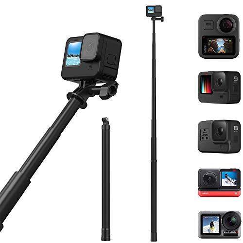 NewMoo -Palo para Selfies ultralargo de Fibra de Carbono de 180 Grados para la cámara de la Serie Gopro y la mayoría de Las demás cámaras Digitales,asidero Ligero Extensible a 6 Longitudes