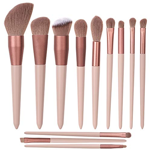 Pinselset Make Up Pinsel , Professionelle 12 Stück Weiche Makeup Schminkpinsel Set Foundation Puder...