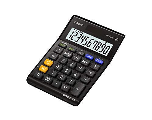 Casio MS-100TERII-BK - Calculadora de sobremesa, 28.8 x 103 x 145 mm, color negro