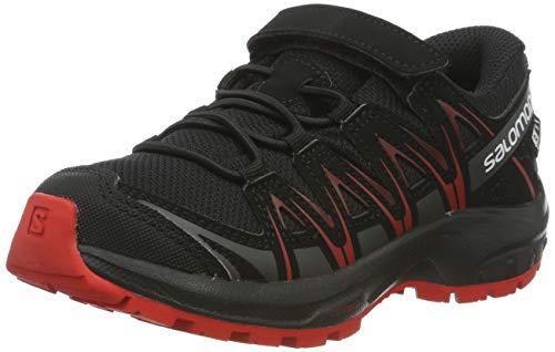 Salomon XA Pro 3D CSWP K, Zapatillas de Deporte Unisex Niños, Negro (Black/Black/High Risk Red), 30 EU