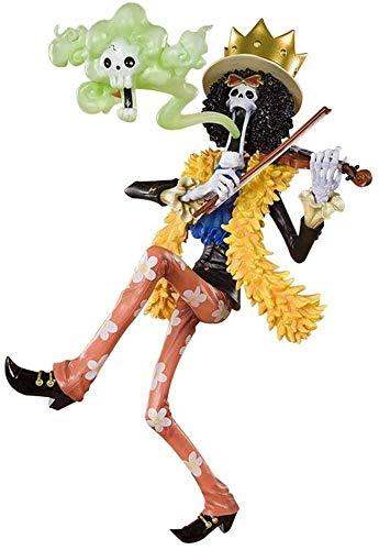 Bck 23 cm-Nuevo Mundo Rey de animaciones de Alma Modelo de Personaje Modelo de carácter One Piece Brook Músico Anime Figura Figurine Decoración Adornos Coleccionables Juguete
