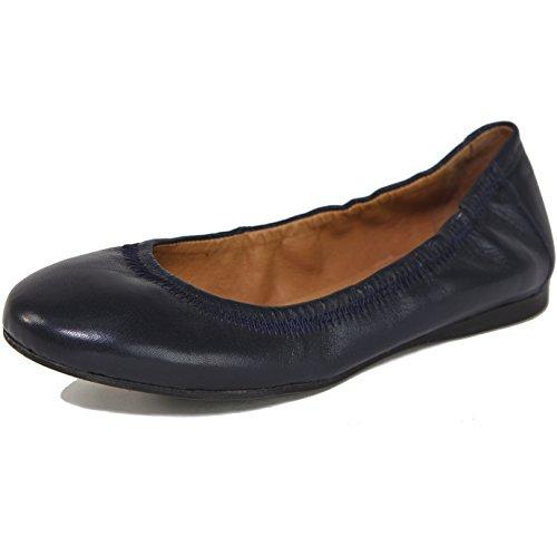 Alpine Swiss Womens Vera Ballet Flats European Made Leather Shoes Navy 6 M US