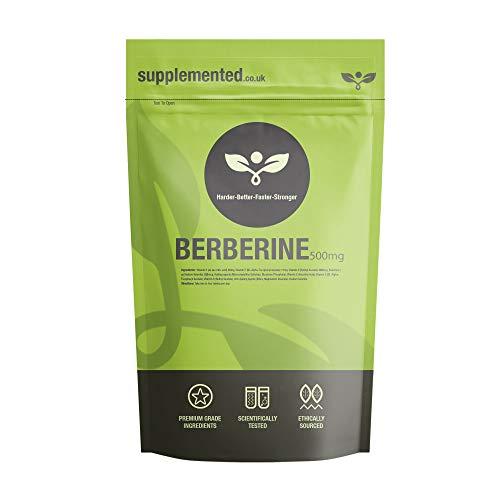 Berberine 98% 500mg 90 Capsules UK Made. Pharmaceutical Grade High Strength Supplement Metabolism Blood Sugar
