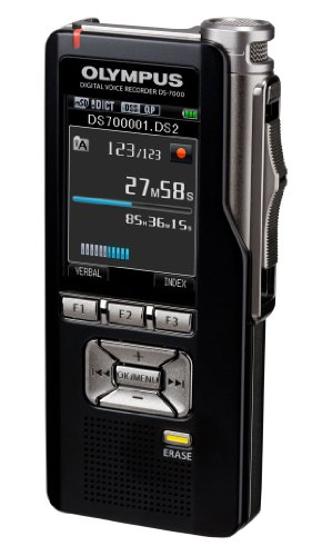OLYMPUS DS-7000 professionelles Diktiergeraet Kit inkl. micro+SD Karte Lithium-Ion Akku ODMS Docking-Station CR-15 CS-137 Lederetui