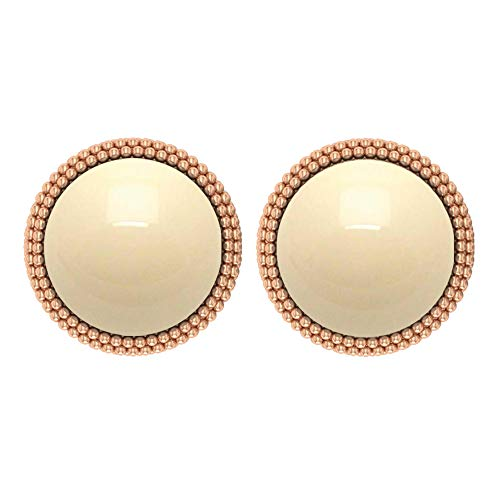 Pendientes de perlas cultivadas japonesas 7,8 CT, pendientes de tuerca de oro, pendientes de oro texturizadotornillo hacia atrás