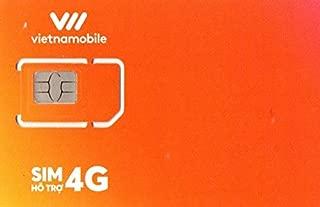 お得な3枚セット Vietnamobile ベトナムプリペイドSIM 4G・3G 30日利用 データ容量120GB