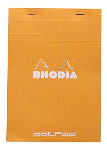 Rhodia Head Stapled Pad, No16 A5, Dot - Orange