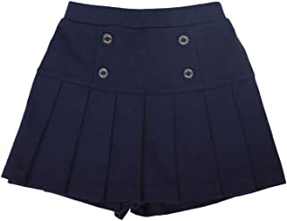 TOTO HEROS Kids Toddler Girls Pleated Pull on Skirt