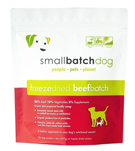 Small Batch Pets, Raw Freeze Dried Beef Sliders,...