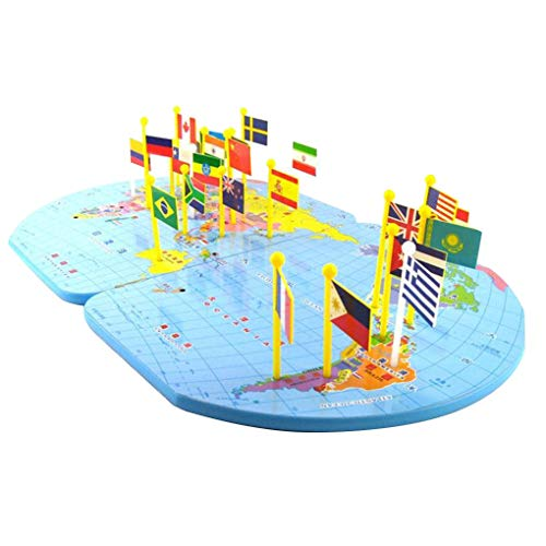 Floridivy 3D houten World Map Toy nationale vlag Speelgoed Educatief Early Learning Puzzle Kids Kinderen Verjaardagscadeau