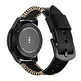 22mm Cinturino Per Samsung Galaxy Watch 46mm per Galaxy Watch 3 45mm Cinturino Per Galaxy Watch Active 2 Cinturino di Ricambio, 22 mm, Colore: Marrone scuro.