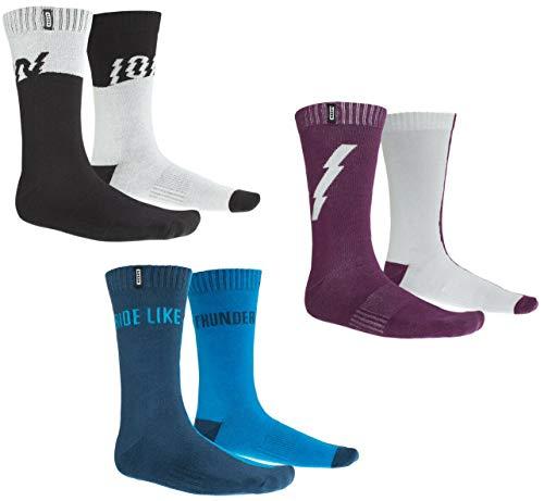 Ion Scrub Fahrrad Socken schwarz/grau 2021: Größe: 39-42