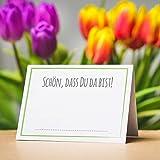 Partycards 50 Tischkarten/Platzkarten DIN A7 für Hochzeit, Geburtstag, Kommunion, Taufe (DIN A7, Rahmen Grün) - 5