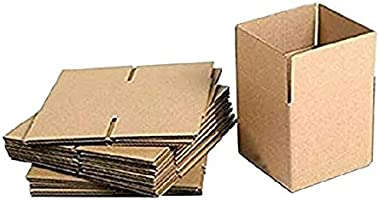 """Shri Ram Packaging® Corrugated Packing Box, Brown, 4.5""""L X 4.5""""W X 2""""H (Pack of 50)"""