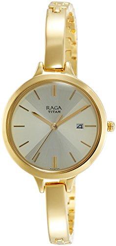 Titan Raga Viva analógico Dial de color beige de la mujer watch-2578ym01