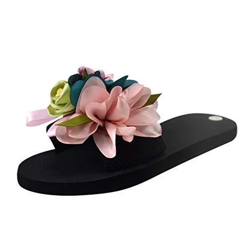 Chanclas Mujer Flip Flop Sandalias Mujer Verano 2019 Zapatos de Plataforma Cuña Playa Zapatillas Planas Sandalias de Punta Abierta Casual Fiesta Roman Tacones Altos Sandalias vpass