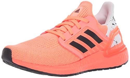 adidas Kids Unisex's Ultraboost 20 Running Shoe, Signal Coral/Black/White, 6