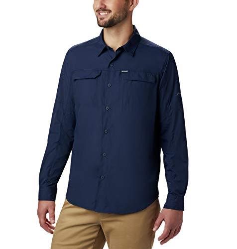 Columbia Silver Ridge 2.0 - Camisa de Manga Larga para Hombre, Color Azul Marino