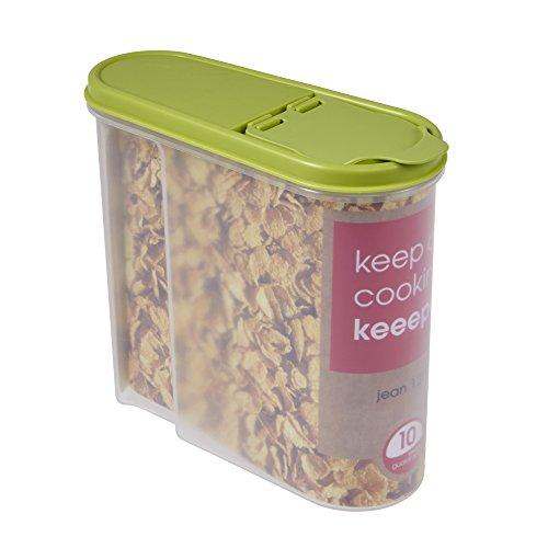 Unbekannt Dispensadores de Cereales, PP/PE, Farn Green, 19 x 8 x 17 cm