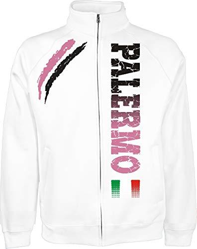 Generico Giacchino Palermo Tifosi Ultras Calcio Sport dalla S alla XXL e 4 Colori Disponibili(M, Bianco)