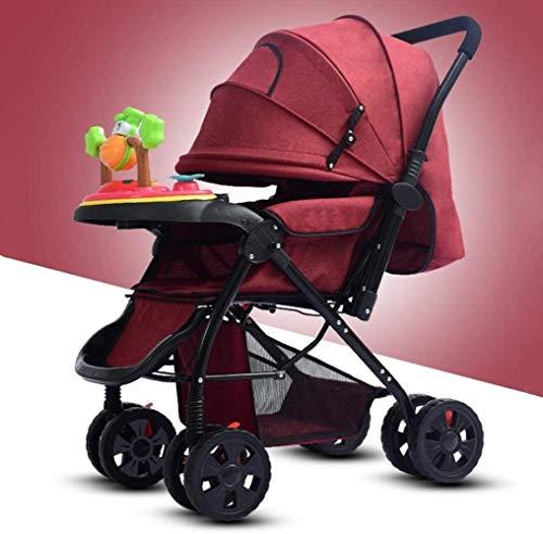 Landaus Poussette Transport, Compact Convertible Poussette Poussette Portable Pram Transport Voyage, Shopping Fournitures pour bébé ( Color : Red )